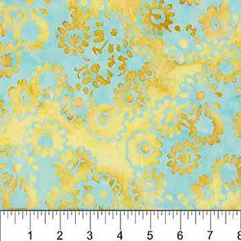 DAISY CHAIN 80130 61 Daisy Clusters Turquoise Northcott