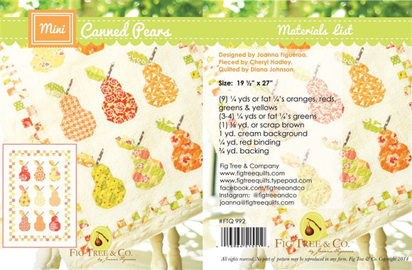 FTQ 992 CANNED PEARS Pattern Fig Tree