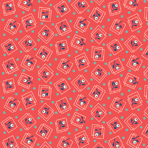 HARLOW 26512 C Flower Buds Coral Quilting Treasures