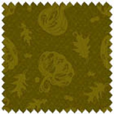 BLESSINGS II 1668 66 Autumn Motifs Olive Green, Rebecca Baer, Studio E