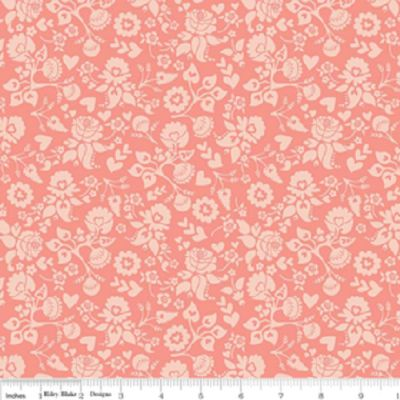 LOST & FOUND LOVE C4203 Floral Pink My Mind's Eye Riley Blake Designs