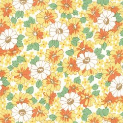30's PLAYTIME CHLOE'S CLOSET 32580 17 Floral Canary Yellow MODA