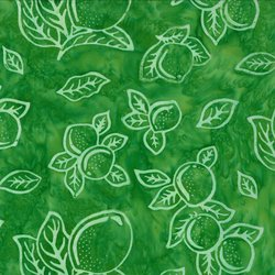 EAT YOUR FRUITS N' VEGGIES 43010 30 Limes Batik Green Pat Sloan Moda