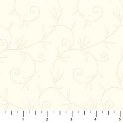 EMBROIDERED COTTON 1010 111 White Northcott