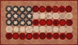 FLAG DAY PENNY BANNER PRI 361 Pattern Lisa Bongean Primitive Gatherings