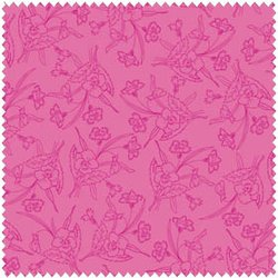 HOMESPUN CHIC 107.101.03.2 Redwork Pink Melody Ross, Blend Fabrics