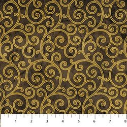 MEDICI STONEHENGE 20497M 99 Swirls Brown/Ebony Metallic Deb Edwards Northcott