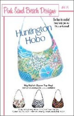 HUNTINGTON HOBO BAG PSBD105 Pattern Handbag Pink Sand Beach Designs