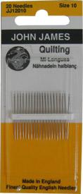 QUILTING NEEDLES JJ12010 Size 10 John James