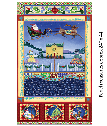 A QUILTER'S CHRISTMAS 6654 99 Panel Multi Benartex