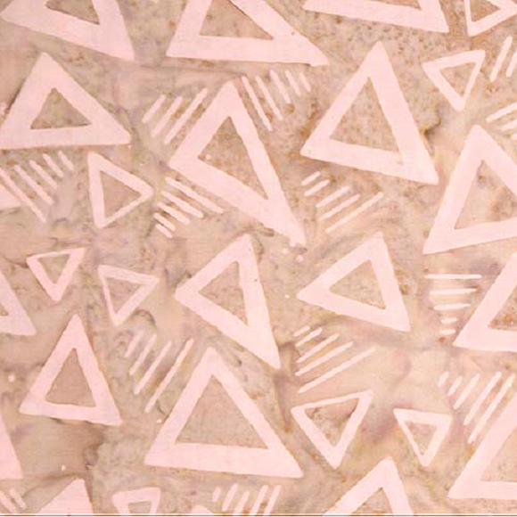 ROCK CITY BATIK 80182 32 Triangles Rosy Brown Banyan Batiks