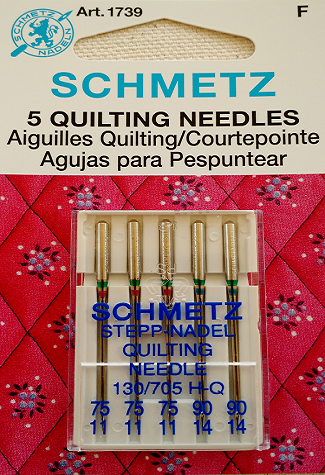SCHMETZ NEEDLES 1739 Quilting Sharp Size Mixed