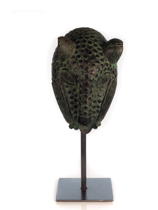 Bronze Leopard Head