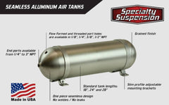 Seamless Aluminium 3 gallon Air Tank