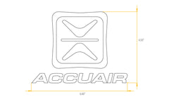 Accuair Sticker (Various Colours Avaliable)