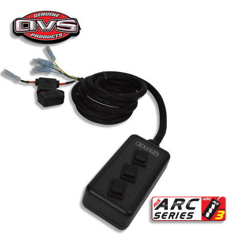 AVS 3 Rocker Switch Box Billet Black