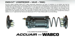 3 Gallon Accuair ENDO-CVT  (Compressor Valve Tank) (Various Options Avaliable)