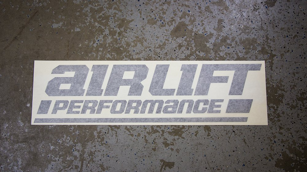 Airlift Windshield Sticker Air Ride Suspension Supplies