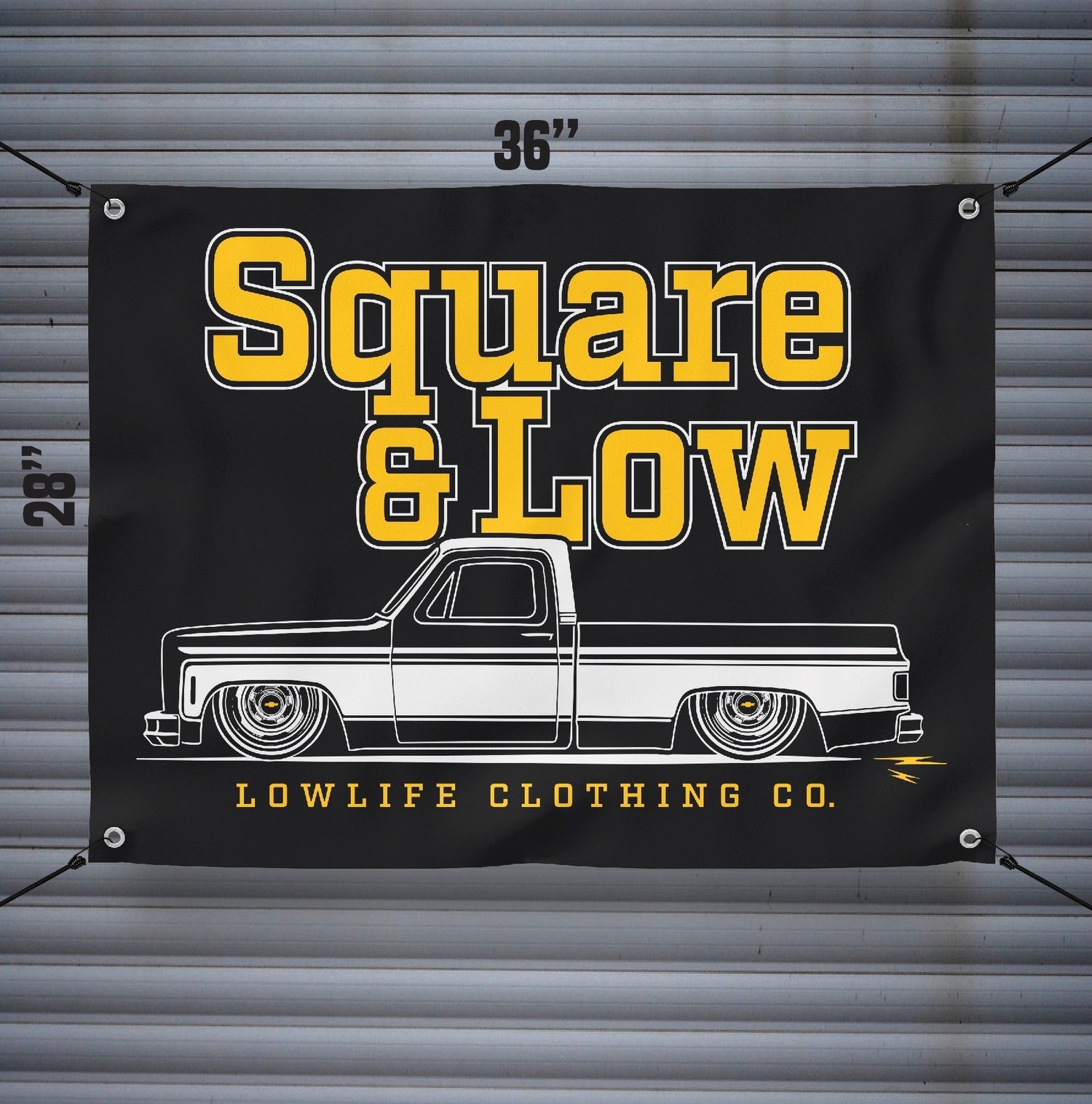Square & Low Banner