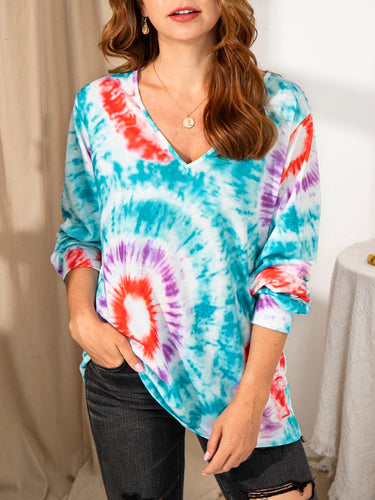 Ladies Personality Tie-dye Top
