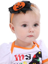 Load image into Gallery viewer, Halloween bow baby hair band
