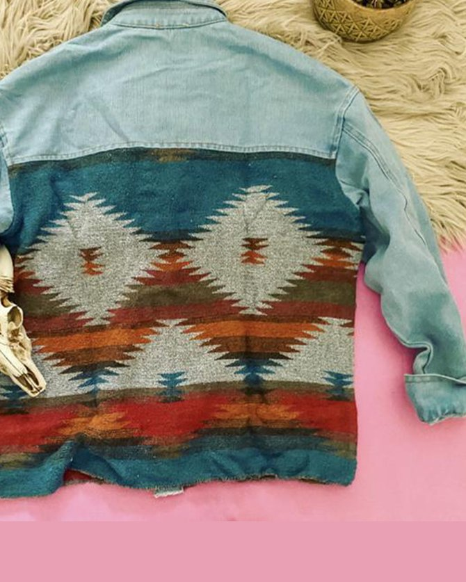Casual Tribal Long Sleeve Shirts & Tops