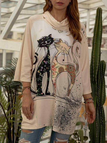 Animal Long Sleeve Shirts & Tops Tunics