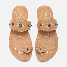 Load image into Gallery viewer, Summer Pu Flip-Flops Slippers Rivet Beach Shoes