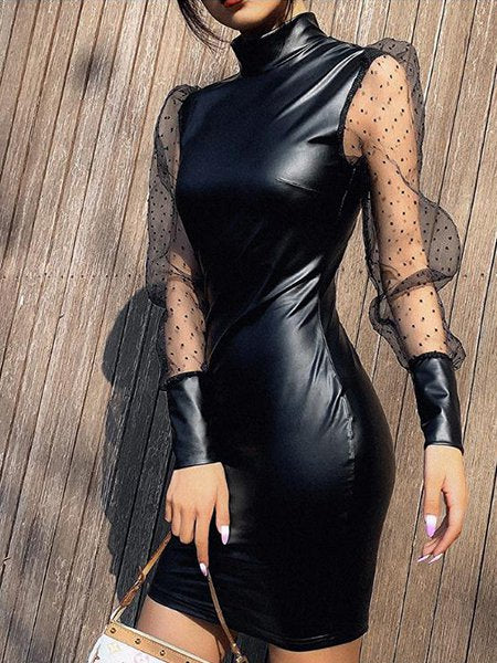 Black Sexy Long Sleeve Dresses