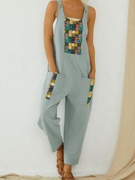 Cotton-Blend Sleeveless Pants