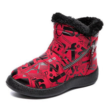 Load image into Gallery viewer, Winter Pu Printed Boots