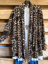 Load image into Gallery viewer, Leopard Print Lapel Pocket Casual Coat