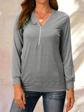 Load image into Gallery viewer, Casual Daily Zipper T-shirt Plus Size