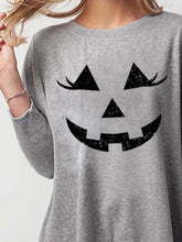Load image into Gallery viewer, Gray Casual Crew Neck Cotton Halloween Shirt & Top