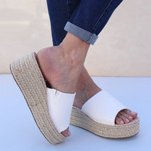 Load image into Gallery viewer, Slip On Espadrille Wedges