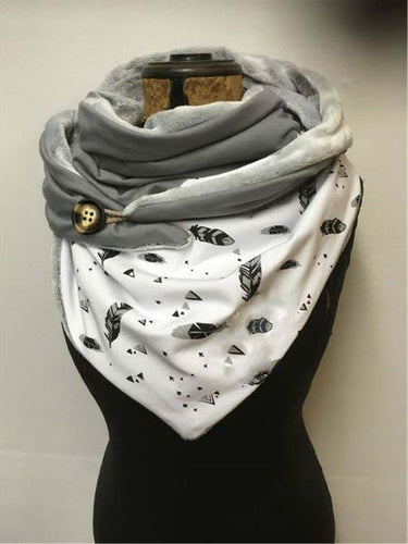 Casual printed warm scarf