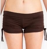 DRAWSTRING SHORT-CHOCOLATE