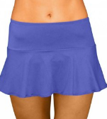 SKIRT W ATTACHED BOTTOM- BLUE VIOLET