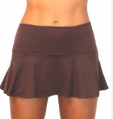 SKIRT W/ ATTACHED BOTTOM- CHOCOLATE
