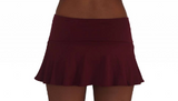 SKIRT W /ATTACHED BOTTOM- MAROON