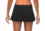 SKIRT W/ ATTACHED BOTTOM- BLACK