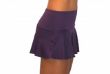 SKIRT W/ ATTACHED BOTTOM- EGGPLANT