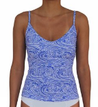 V-FRONT TANKINI- WAVES
