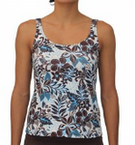 SCOOP TANKINI- BLUE HAWAII