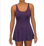 TANK DRESS ONE PIECE- EGGPLANT
