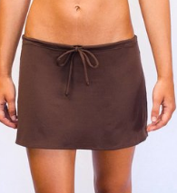 DRAWSTRING SKIRT- CHOCOLATE