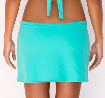 DRAWSTRING SKIRT- SEA GREEN