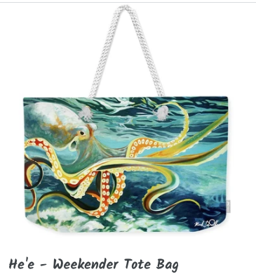 MARK ART TOTE - HE'E
