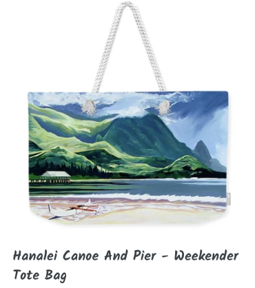 MARK ART TOTE- CANOE & PIER