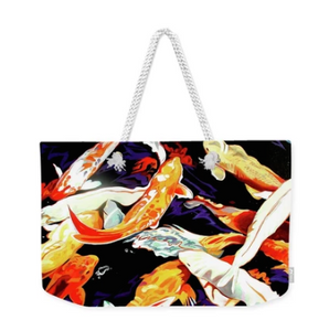 MARK ART TOTE-KOI FISH